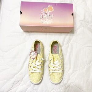 Jellypop Yellow Lace Tennis Shoes